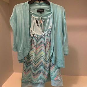 Lane Bryant Mint green Cardigan